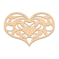 Decorative Country Heart (Style C) - 25cm x 16.6cm
