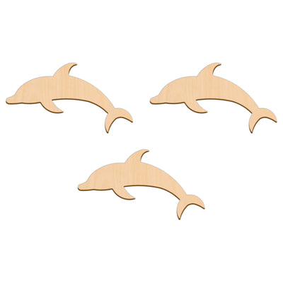Dolphin - 15cm x 8.4cm - Wooden Shapes