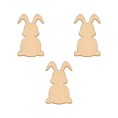 Easter Bunny (Style A) - 6.1cm x 10cm - Wooden Shapes