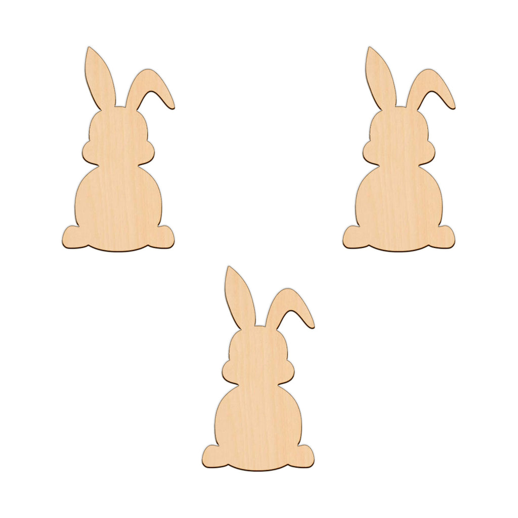Easter Bunny (Style B) - 6.1cm x 11.2cm - Wooden Shapes