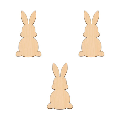 Easter Bunny (Style C) - 6.1cm x 11.2cm - Wooden Shapes