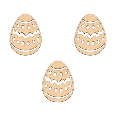 Easter Egg (Style D) - 7.6cm x 10cm - Wooden Shapes