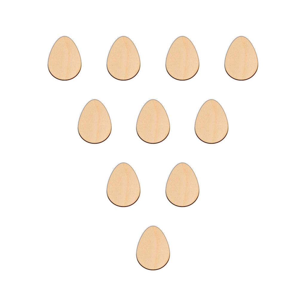 Easter Egg (Plain) - 3.8cm x 5cm - Wooden Shapes