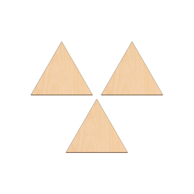 Equilateral Triangle - 10cm x 10cm - Wooden Shapes