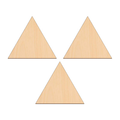 Equilateral Triangle - 15cm x 15cm - Wooden Shapes