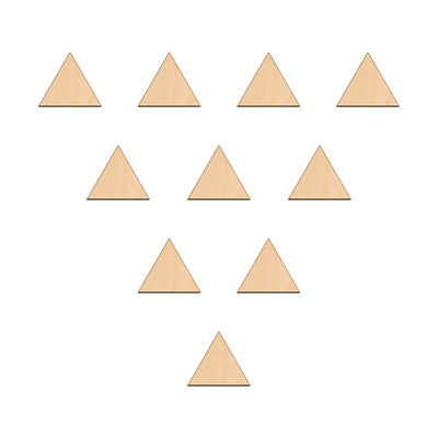 Equilateral Triangle - 5cm x 5cm - Wooden Shapes