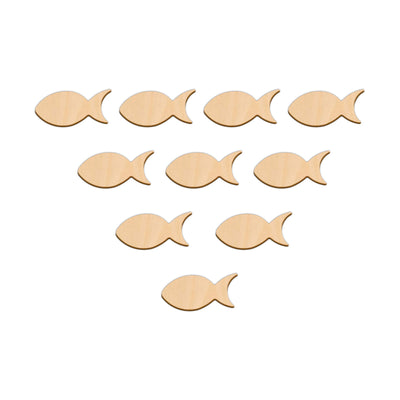 Fish - 5cm x 2.4cm - Wooden Shapes