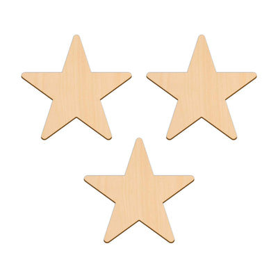 Five Point Star - 12.7cm x 12.7cm - Wooden Shapes