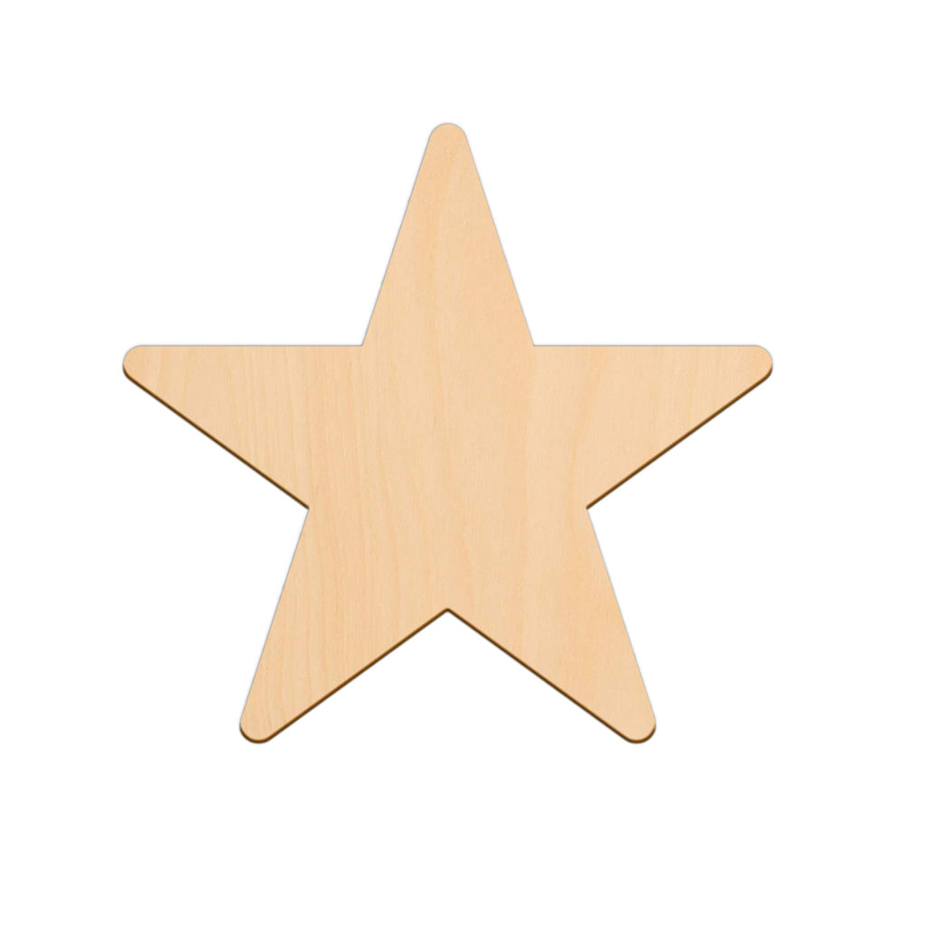 Five Point Star - 22.2cm x 22.2cm - Wooden Shapes