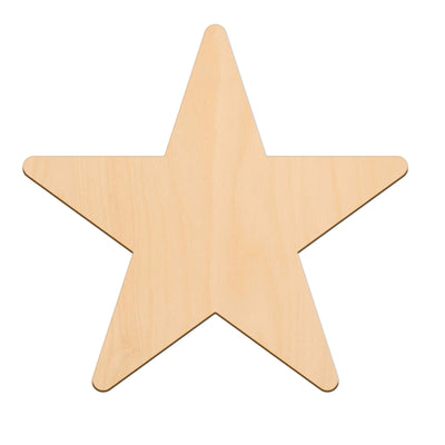 Five Point Star - 30cm x 30cm - Wooden Shapes