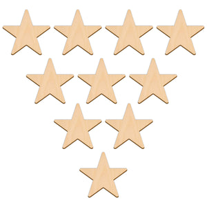 Five Point Star - 7.6cm x 7.6cm - Wooden Shapes