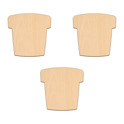 Flower Pot - 8.9cm x 8.9cm - Wooden Shapes
