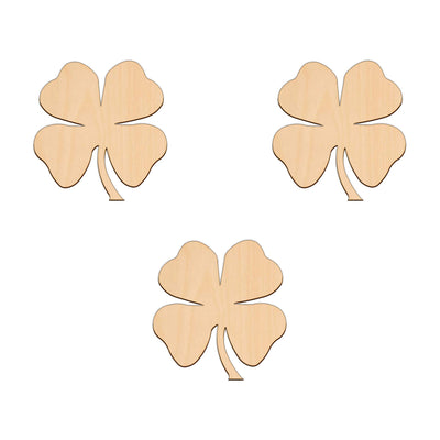Four Leaf Clover - 9.3cm x 10cm - Wooden Shapes
