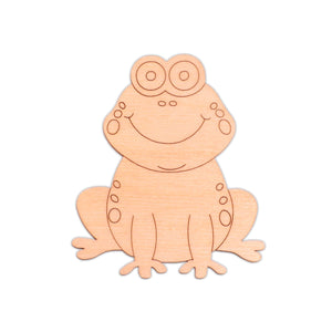 Frog (Style A) wooden shapes - 12.7cm x 15cm