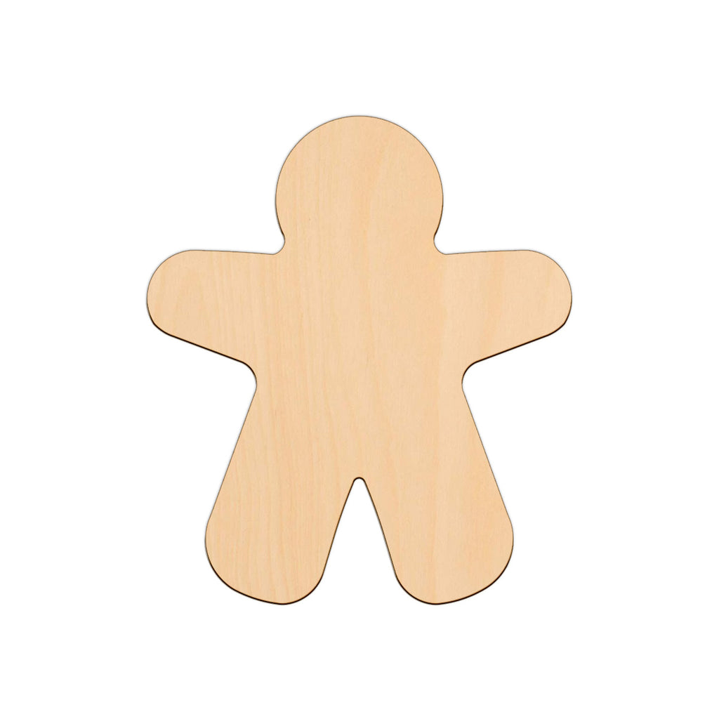 Gingerbread Man (Style A) - 14.6cm x 12.7cm - Wooden Shapes