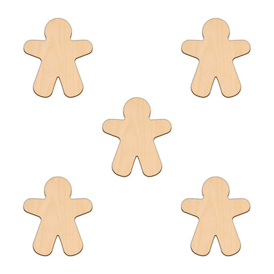 Gingerbread Man (Style A) - 10cm x 8.7cm - Wooden Shapes