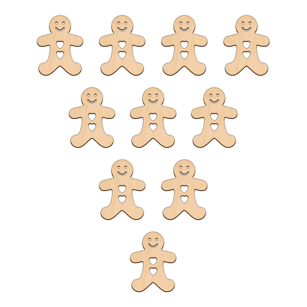 Gingerbread Man (Style B) Hearts - 3.8cm x 5cm