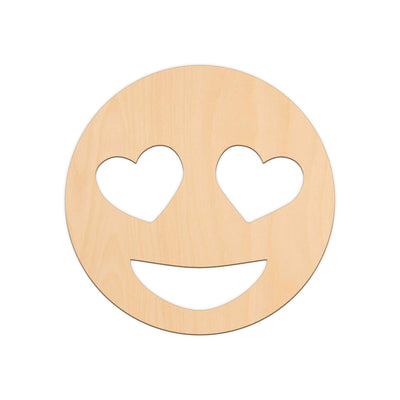 Heart Eyes Face Emoji - 25cm x 25cm