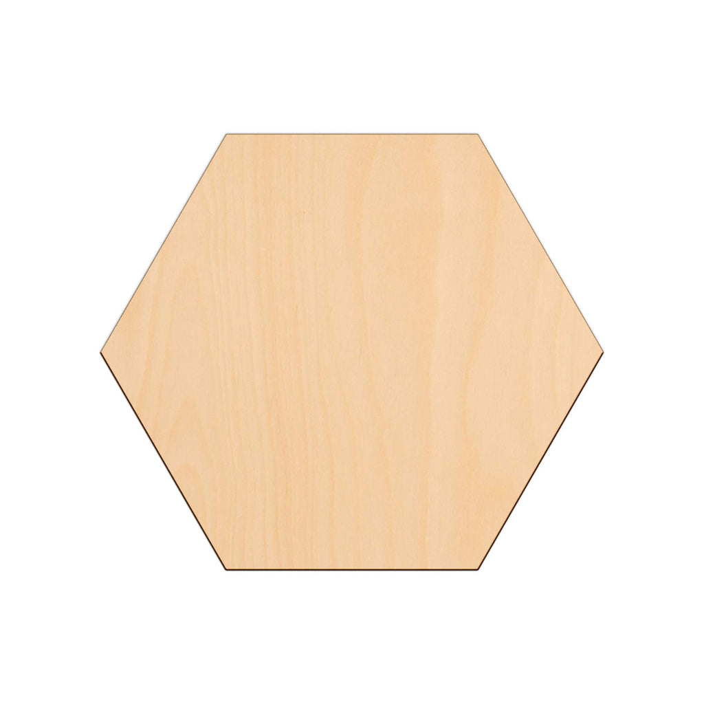 Hexagon - 25cm x 0.3cm - Wooden Shapes