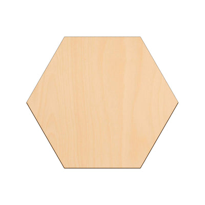 Hexagon - 30cm x 0.3cm - Wooden Shapes