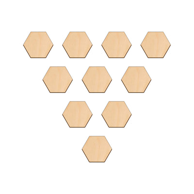 Hexagon - 5cm x 0.3cm - Wooden Shapes