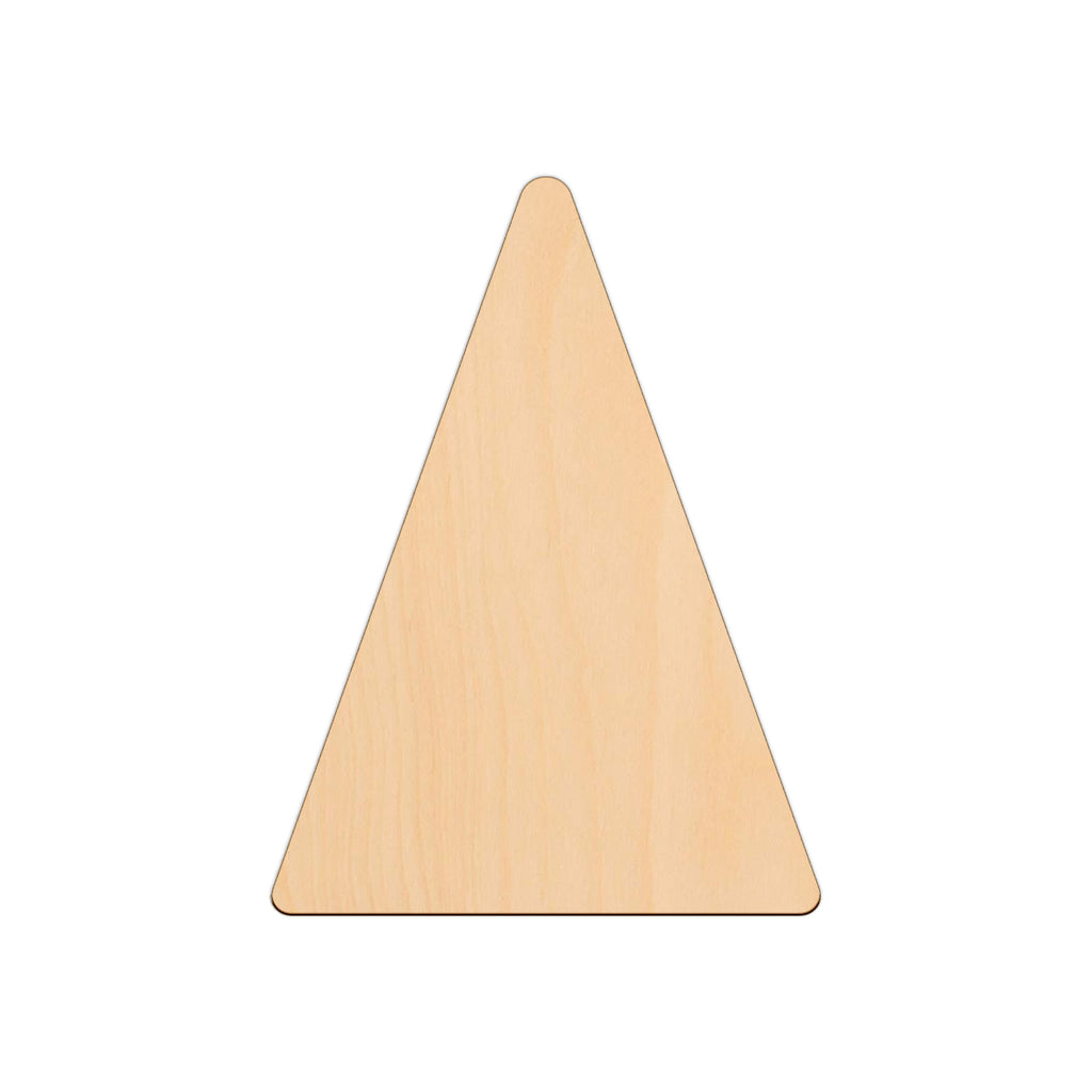 Isosceles Triangle - 18.6cm x 25cm - Wooden Shapes
