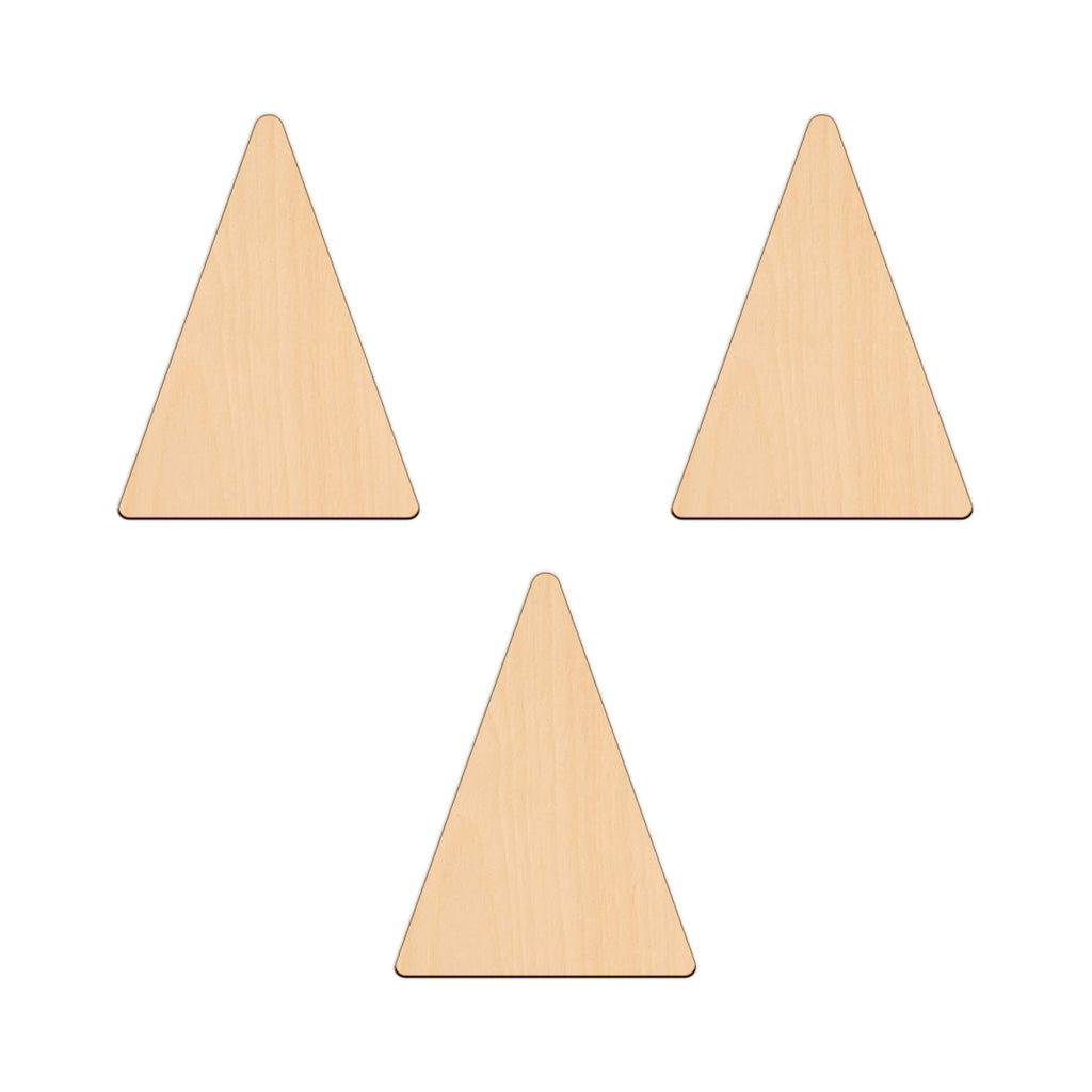 Isosceles Triangle - 8.3cm x 11.2cm - Wooden Shapes