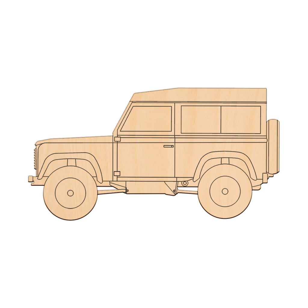 Land Rover 90 - 20cm x 10.5cm - Wooden Shapes