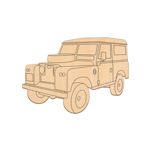 Land Rover S2 - 17cm x 12cm - Wooden Shapes