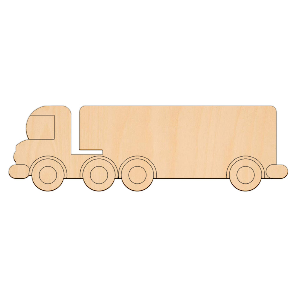Lorry - 39.5cm x 12.1cm - Wooden Shapes