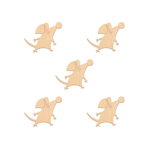 Mouse - 6.2cm x 5cm - Wooden Shapes