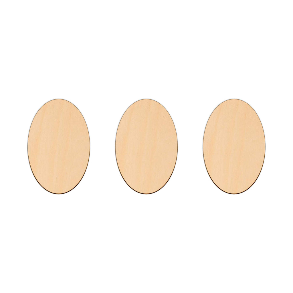 Oval - 7.3cm x 11.1cm - Wooden Shapes