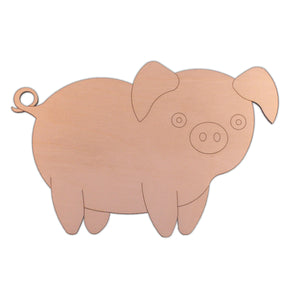 Pig (Style B) wooden shapes - 20cm x 13.2cm