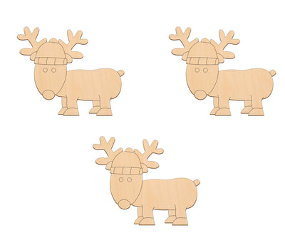 Reindeer - 12cm x 10cm - Wooden Shapes