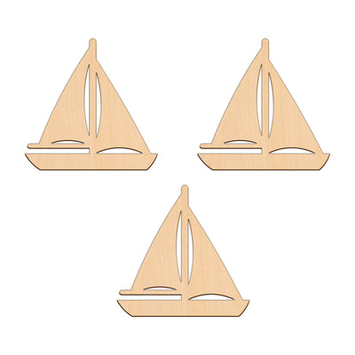Sail Boat - 10.2cm x 10.2cm - Wooden Shapes