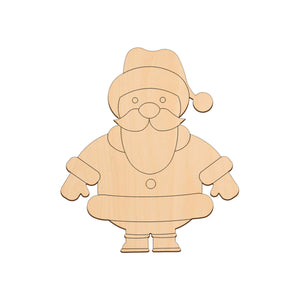 Santa - 17.4cm x 20cm - Wooden Shapes