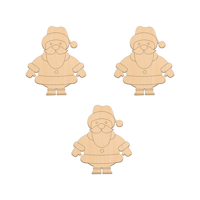 Santa - 8.7cm x 10cm - Wooden Shapes