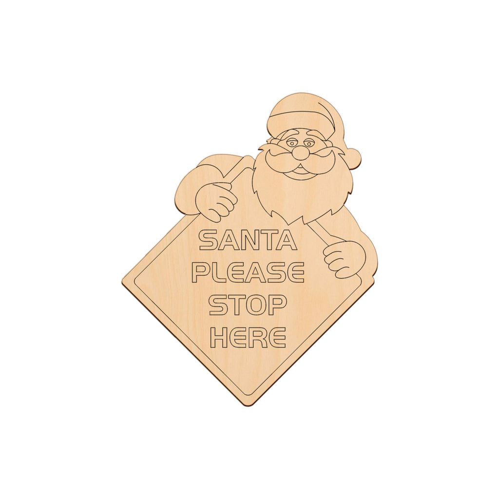 Santa Stop Here Sign - 24.4cm x 30cm
