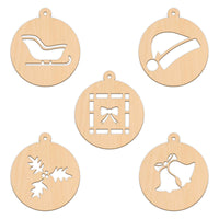 Bauble Set C - 5 Per Set - 10cm x 11.3cm