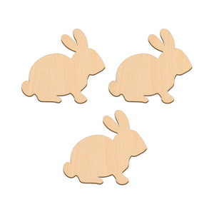 Sitting Rabbit - 11.2cm x 10cm - Wooden Shapes