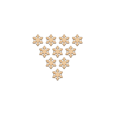 Snowflake (Style A) - 3.2cm x 3.2cm - Wooden Shapes