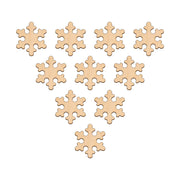 Snowflake (Style A) - 5.9cm x 5.9cm - Wooden Shapes
