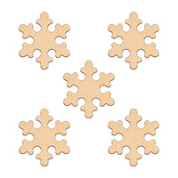 Snowflake (Style A) - 7.6cm x 7.6cm - Wooden Shapes