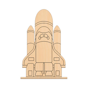 Space Shuttle On Launch Pad - 24cm x 16cm