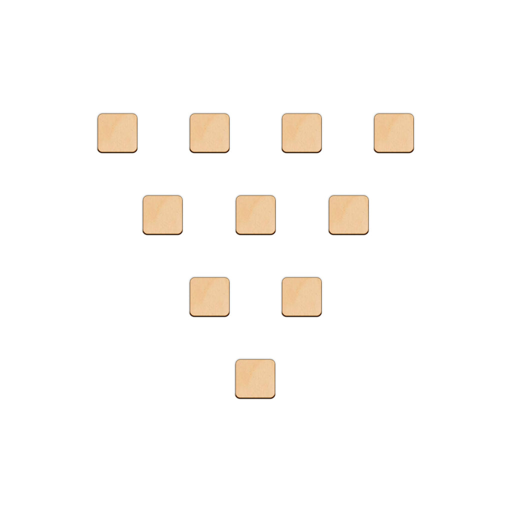 Square - 4cm - Wooden Shapes