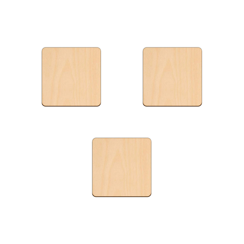 Square - 7.6cm - Wooden Shapes