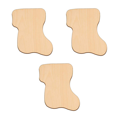 Stocking - 10.2cm x 8.8cm - Wooden Shapes