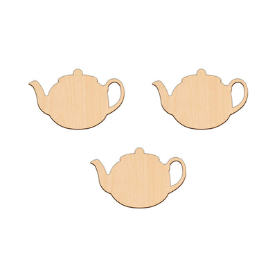 Tea Pot - 9.5cm x 6cm - Wooden Shapes