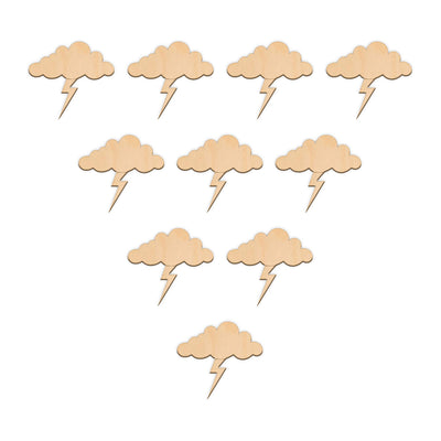 Thunder Cloud - 5cm x 4.6cm - Wooden Shapes