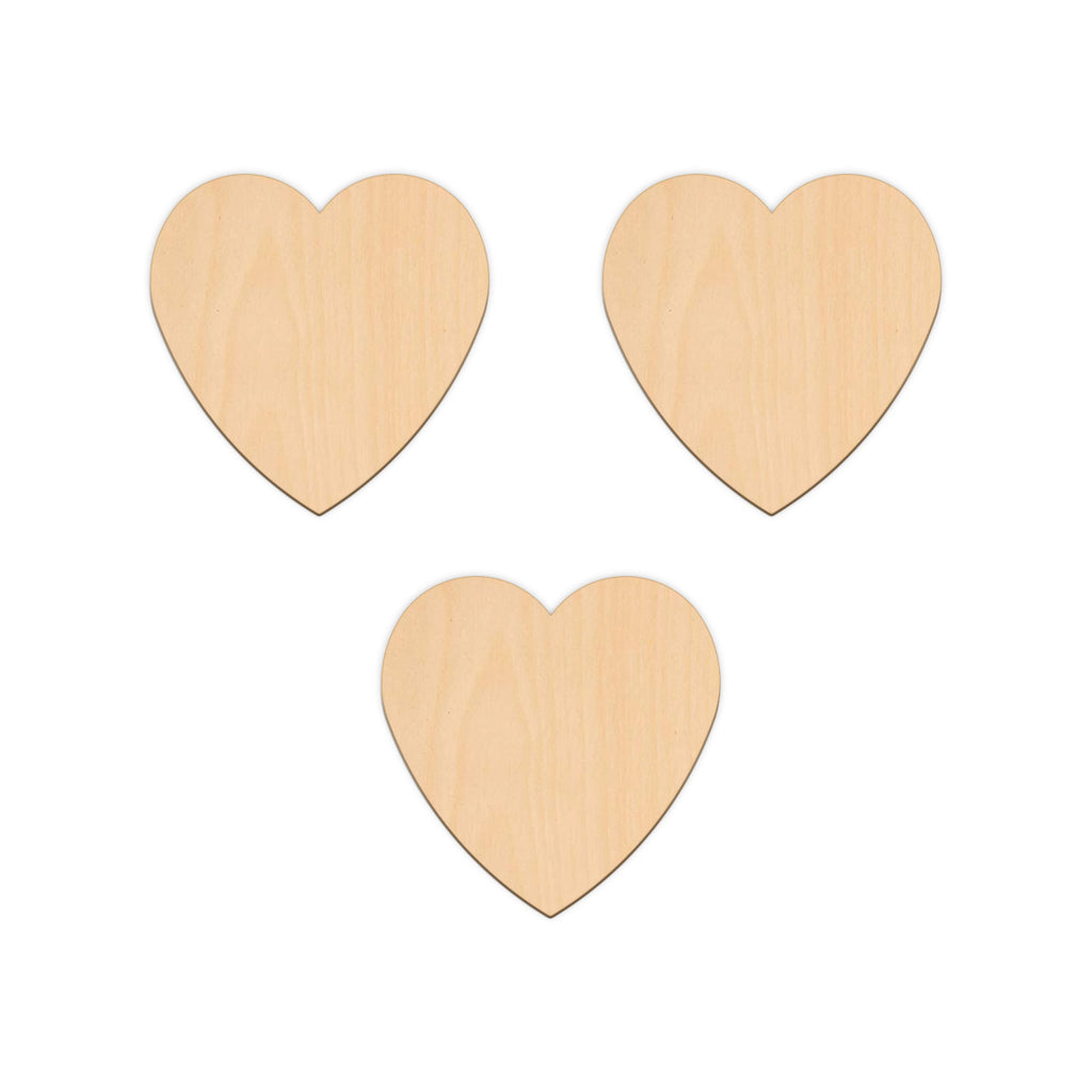 Valentines Heart - 10cm x 10cm - Wooden Shapes